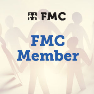 Photograph of cutout people with FMC Member superimposed on it